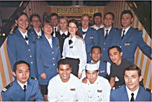 Part of Finnjet's crew in July 2005. Photo: Welcome Aboard